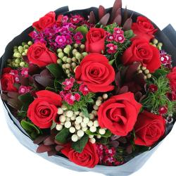 Spring Roses Bouquet for Bhopal