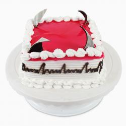 Square Fresh Cream Strawberry Cake for Coimbatore