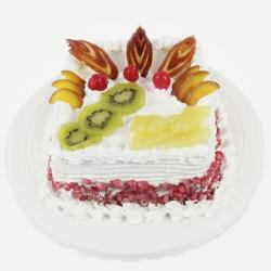 Square Mix Fresh Fruit Cake for Hospet