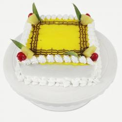 Square Pineapple Cake for Delhi