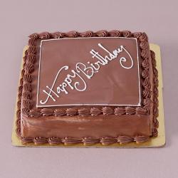Square Shape Butter Cream Chocolate Happy Birthday Cake for Kanchipuram