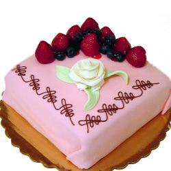 Square Strawberry Cake for Pune