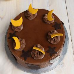 Star and Moon Chocolate Cake for Cuttack