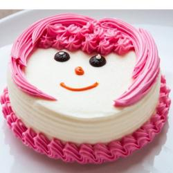 Strawberry Vanilla Face Cake for Vasco Da Gama