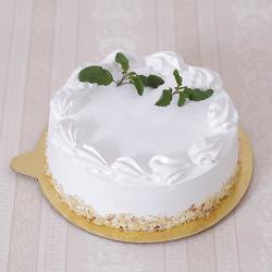 Sugar Free Almond White Forest Cake for Ghaziabad