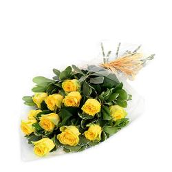 Sunny 12 Yellow Roses Bouquet for Shimla