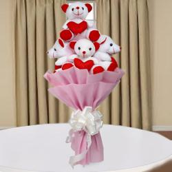 Send Birthday Gifts In India With Assured And Timely Delivery Teddy Bouquet Same Day