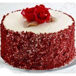 Tempting Round Shape Red Velvet Cake from Five Star Bakery for Kolkata