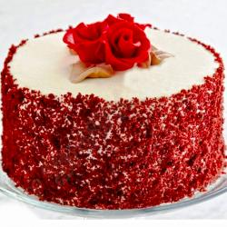 Tempting Round Shape Red Velvet Cake for Manipal