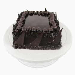 Tempting Square Dutch Truffle Chocolate Cake for Bhopal