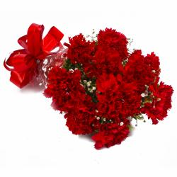 Ten Love Red Carnations Bouquet for Madras