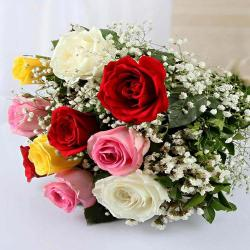 Ten Mixed Roses Bouquet