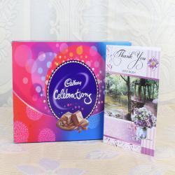 Thank you Card with Cadbury Celebration Box for Kolkata