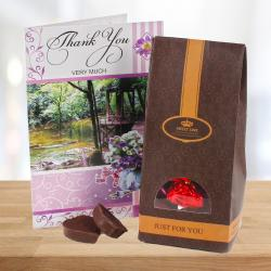 Thank You Card with Home Made Chocolates Bag for Alappuzha
