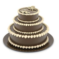 Three Tier Birthday Chocolate Cake for Delhi
