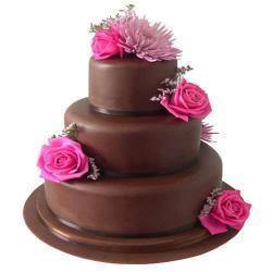 Three Tier Dark Chocolate Cake for Bangalore