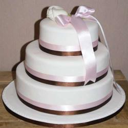 Three Tier Vanilla Fresh Cream Cake for Bangalore