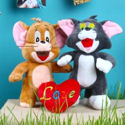 Tom and Jerry Soft Toy with Love Heart for Chennai