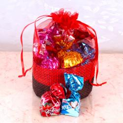 Truffle with Home Made Chocolate Basket Pouch for Bankura