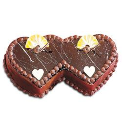 Twin Heart Shaped Chocolate Cake for Vasco Da Gama