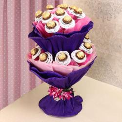 Two Layer Ferrero Rocher Chocolate Bouquet for Moradabad