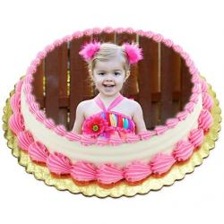 Vanilla Photo Cake for Shimla