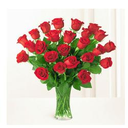 Vase Arrangement Of 24 Red Roses for Kanchipuram