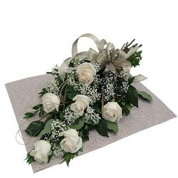 White Roses Bouquet for Hyderabad