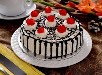 White Zebra Cake from Five Star Bakery for Chandigarh