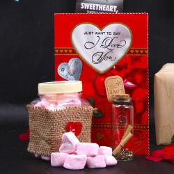 Yummy Marshmallow Love Message Gift for Ghaziabad